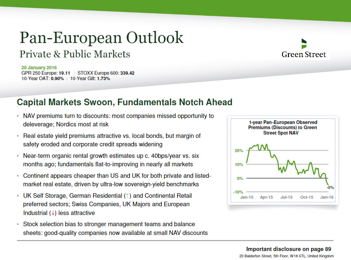 Pan-European Outlook